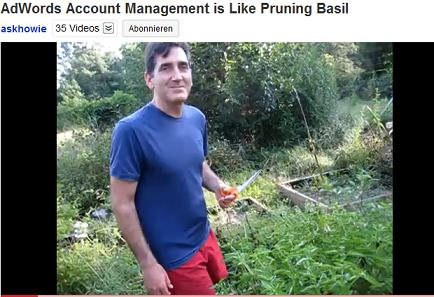 AdWords Account Management is Like Pruning Basil