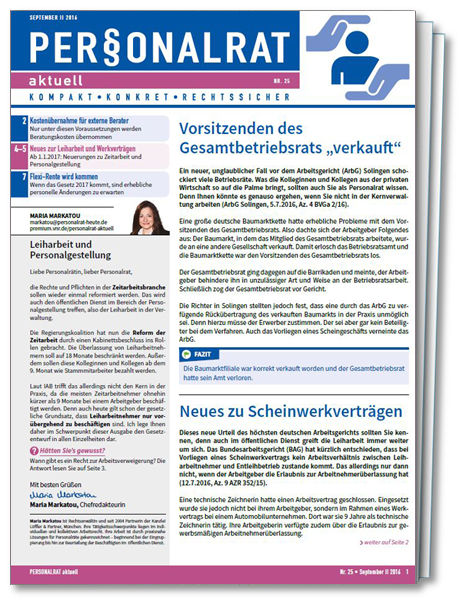 Cover Personalrat aktuell